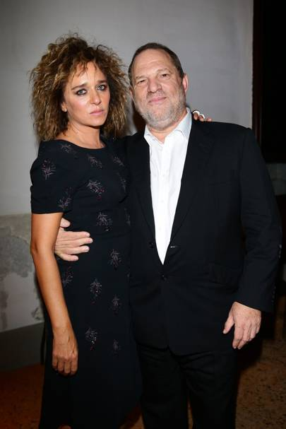 Valeria Golino and Harvey Weinstein