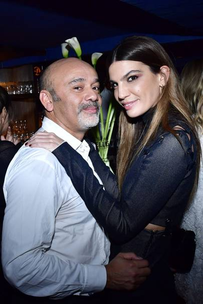 Christian Louboutin and Bianca Brandolini