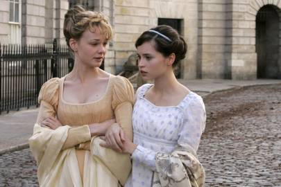 With Carey Mulligan in ITV's adaptation of Northanger Abbey, 2007