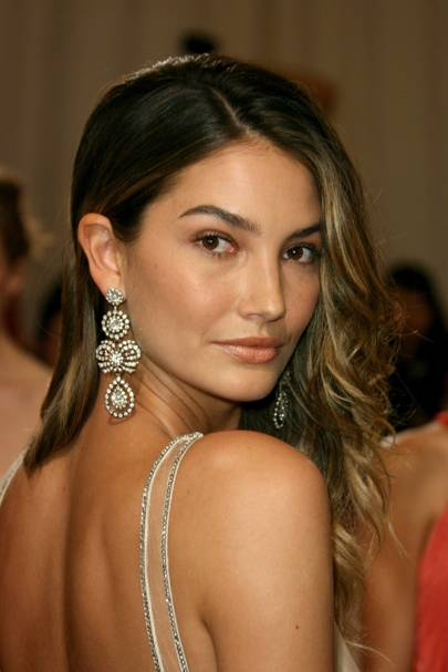 Lily Aldridge in Vintage Ralph Lauren