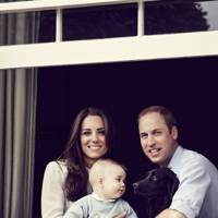The Duchess of Cambridge, Prince George, Lupo and the Duke of Cambridge