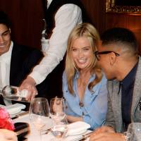 Siva Kaneswaran, Laura Whitmore and Reggie Yates