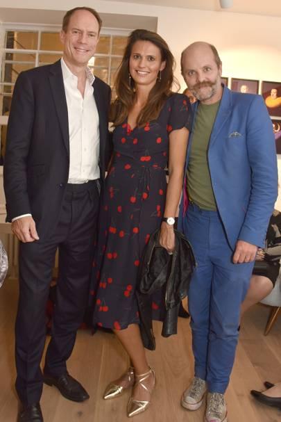 Harry Blain, Olivia Cole and Gavin Turk
