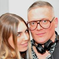 Amber Le Bon and Giles Deacon