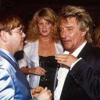 Elton John, Mrs Rod Stewart and Rod Stewart