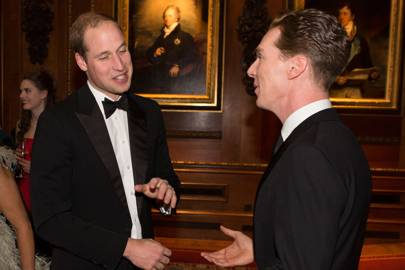 The Duke of Cambridge and Benedict Cumberbatch