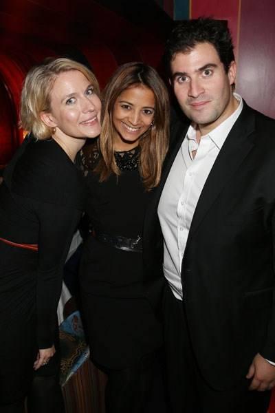 Amy Williams, Katy Wickremesinghe and Zafar Rushdie