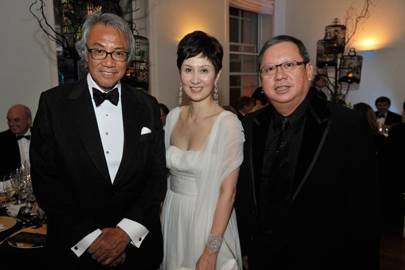 Sir David Tang, Michelle Ong and Peter Lam