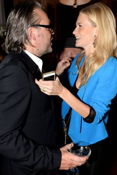 David Downton and Poppy Delevingne