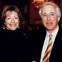 Mrs Peter Soros and Hugo Vickers