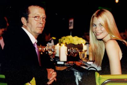 Eric Clapton and Claudia Schiffer