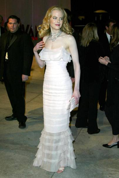 Wearing Chanel at the Academy Awards, 2002
