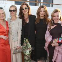 Mariella Frostrup, Laura Bailey, Christina Thompson, Livia Firth and Caroline Scheufele