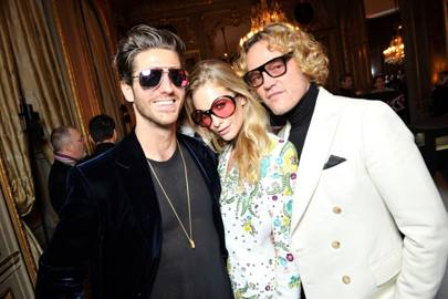 Jean-Thierry Besins, Poppy Delevingne and Peter Dundas