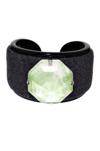 Flannel & gem bangle, £1,015, by Giorgio Armani