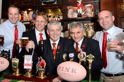 Martin Bayfield, Lewis Moody, Warren Gatland, Andy Lrvine and Phil Vickery