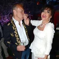 Graham Norton and Joan Collins