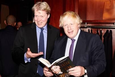 Earl Spencer and Boris Johnson