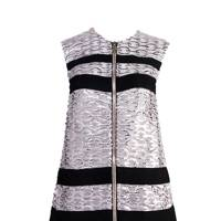 Silk & cotton-mix dress, £2,045, by Moncler