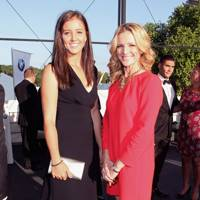 Laura Robson and Gabby Logan