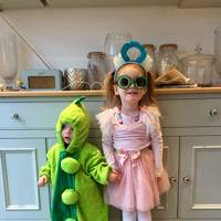 Matilda Parker Bowles and Poppy Parker Bowles as The Princess and the Pea