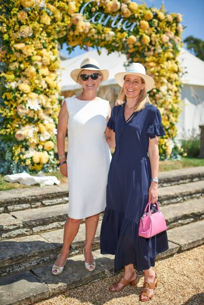 Duchess of Richmond and Carine Feniou