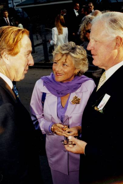 Sir Simon Hornby, Dame Vivien Duffield and Sir Jocelyn Stevens