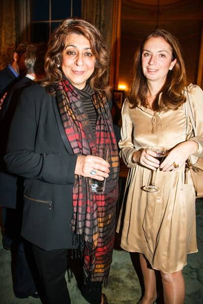 Lady Naipaul and Nancy Sladek
