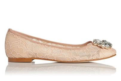 LK Bennett flat wedding shoes