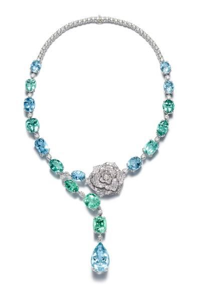 Aquamarine necklace, £352,000, Piaget
