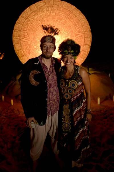 Daniel Pinchbeck and Maya Fiennes