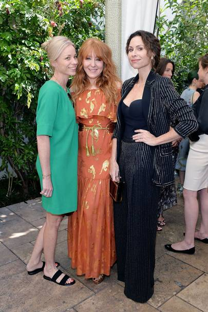 Kate Driver, Charlotte Tilbury and Minnie Driver