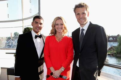 Louis Smith, Gabby Logan and James Cracknell
