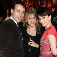 Rufus Sewell, Sonia Friedman and Kristin Scott Thomas