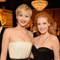 Jennifer Lawrence and Jessica Chastain