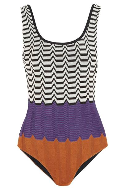 Swimsuit, £340, by Missoni at Net-a-Porter