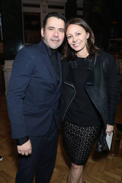 Roland Mouret and Caroline Rush