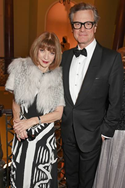 Dame Anna Wintour and Colin Firth