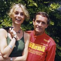 Maryam D'abo and Jacky Ickx