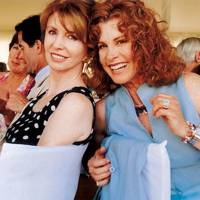 Mrs Gerald Scarfe and Stephanie Powers