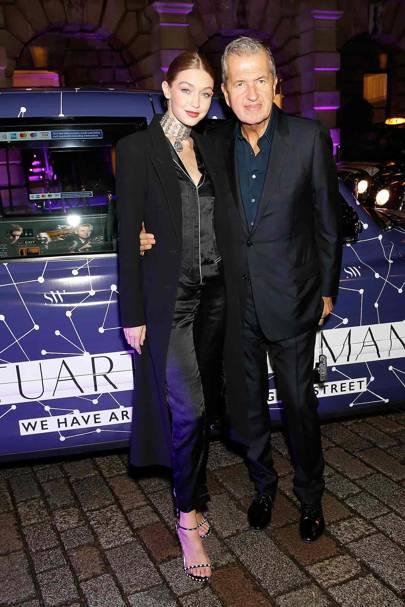 Gigi Hadid and Mario Testino