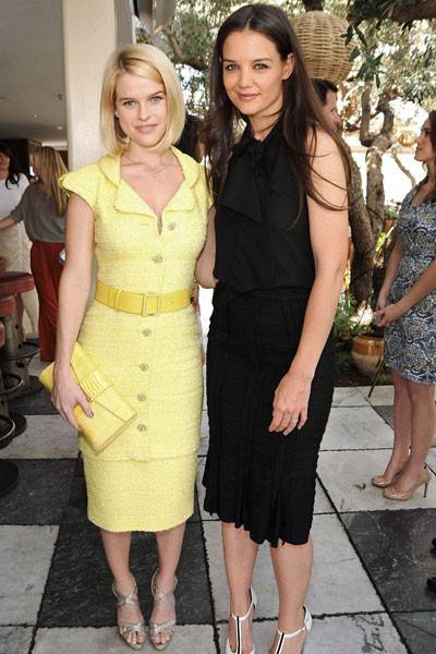 Alice Eve and Katie Holmes