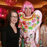 Dr Frances Corner and Grayson Perry