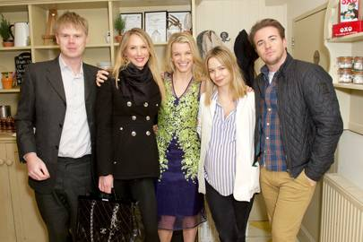 Viscount Hinchingbrooke, Adela King, Julie Montagu, Marissa Hermer and Luke Henderson