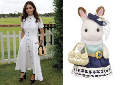 Jenna Coleman as a Sylvanian Family creature