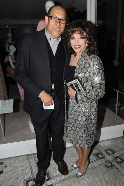 Bruce Oldfield and Joan Collins