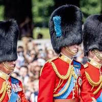 The Prince of Wales, the Duke of Cambridge and the Duke of York