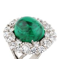 Emerald and diamond ring, POA, Faberge