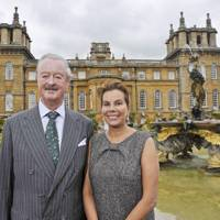 2009: With the Duchess of Marlborough at Blenheim Palace
