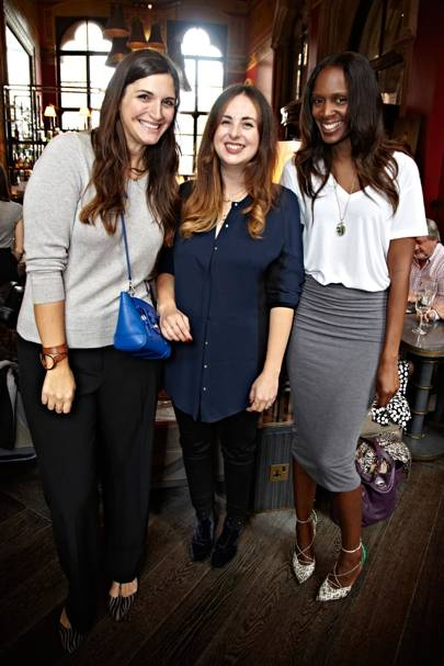 Emily Johnston, Laetitia Wajnapel and Catherine Kallon